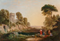 Fine Art - Painting, American:Antique  (Pre 1900), Ambrose Andrews (American, 1805-1859). Arcadian Landscape withWorshippers of Pan. Oil on canvas. 37-3/4 x 54-1/4 inches...