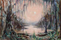 Fine Art - Painting, American:Contemporary   (1950 to present)  , Robert Clements (American, b. 1937). Bayou Landscape, 1959.Oil on canvas. 38-3/4 x 57-3/4 inches (98.4 x 146.7 cm). Sig...