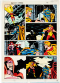 Original Comic Art:Miscellaneous, Paul Ryan and Al Williamson Squadron Supreme: Death of aUniverse Story Page 32 Color Production Art (Marvel, 1989...