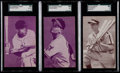 Baseball Cards:Singles (1940-1949), 1947-1966 Exhibits Baseball Hall of Famers SGC Graded Trio (3). ...