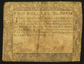 Colonial Notes:Maryland, Maryland December 7, 1775 $2 Very Good-Fine.. ...
