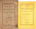 Books:Americana & American History, [Zachary Taylor]. Pair of Publications Relating to the Death ofZachary Taylor. Various publishers, 1850.... (Total: 2 Items)