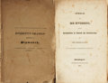 Books:Americana & American History, Edward Everett. Pair of Books. Includes: An Oration Delivered atPlymouth, December 22, 1824. Boston: Cummings, ...