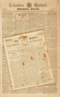 Books:Periodicals, [American History]. Two Early American Newspapers. Including: ...