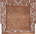 Asian:Chinese, A Chinese Carved Teak Panel: Dragon, 20th century. 21-1/4inches high x 22-1/2 inches wide (54.0 x 57.2 cm). P...