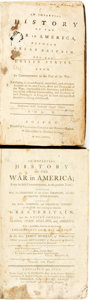 Books:Americana & American History, [Edmund Burke]. James Murray. An Impartial History of the War inAmerica; From its first Commencement, to the present Ti... (Total:2 Items)