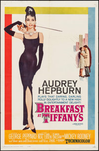 "Breakfast at Tiffany's (Paramount, 1961). One Sheet (27"" X 41""). Romance"