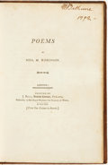 Books:Literature Pre-1900, [Mary Robinson]. Poems by Mrs. Robinson. London: Printed byJ. Bell. 1791.. ...