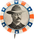 Political:Pinback Buttons (1896-present), Theodore Roosevelt: 1900 Rough Rider Picture Pin....