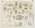 animation art:Model Sheet, Pluto Model Sheet Animation Art (Walt Disney, 1939).... (Total: 4Original Art)