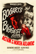 """Movie Posters:War, Action in the North Atlantic (Warner Brothers, 1943). One Sheet(27"""" X 41"""").. ..."""