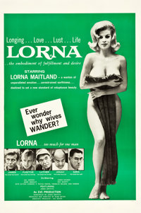 """Lorna (Eve Productions, 1964). One Sheet (27"""" X 41"""")"""