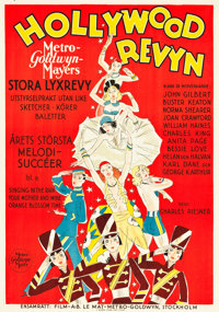 "Hollywood Revue of 1929 (MGM, 1929). Swedish One Sheet (27.5"" X 39.5"")"