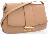 "Judith Leiber Beige Leather Shoulder Bag Very Good to Excellent Condition 14.5"" Width x 8.5"" Height x 1.5""..."