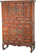 Asian:Chinese, A Korean Tansu Cabinet with Brass Mounts, 20th century. 56-1/2inches high x 38 inches wide x 15 inches deep (143.5 x 96.5 x...