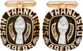 Football Collectibles:Others, 1981-82 San Francisco 49ers Super Bowl XVI Championship Cufflinks. ...