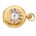 Timepieces:Pocket (post 1900), E.W. Benson 18k Gold Demi-Hunter Pocket Watch. ...