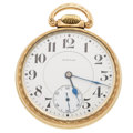 Timepieces:Pocket (post 1900), E. Howard 17 Jewel Open Face Pocket Watch. ...