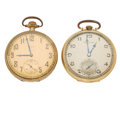 Timepieces:Pocket (post 1900), Elgin & Hamilton Open Face Pocket Watches Runners. ... (Total:2 Items)