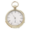 "Timepieces:Pocket (pre 1900) , ""Home Watch Co."" 18 Size Key Wind Hunter's Case. ..."