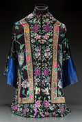 Asian:Chinese, A Chinese Embroidered Silk Robe. 37-1/4 inches long x 58 incheswide (94.6 x 147.3 cm). ...