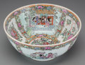 Asian:Chinese, A Chinese Rose Canton Enameled Porcelain Bowl. Marks: (6-charactermark). 4-1/2 inches high x 10 inches diameter (11.4 x 25....