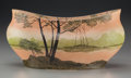 Art Glass:Legras, A Legras Enameled Glass Landscape Bowl, late 19th century. Marks:Legras . 6 inches high x 11-1/4 inches wide (15.2 x 28...
