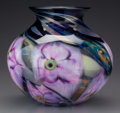 Art Glass:Other , A Daniel Lotton Multi Flora Glass Vase, Crete, Illinois,circa 1994. Marks: Daniel Lott, 1994. 6 inches high...