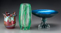 Art Glass:Other , Two Lundberg Studios and a Charles Lotton Iridescent and CasedGlass Vases, Davenport, California & Crete Illinois, circa19... (Total: 3 Items)