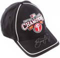 Autographs:Bats, Brad Lidge Signed Philadelphia Phillies World Series Cap....