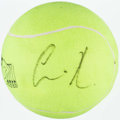Miscellaneous Collectibles:General, Anna Kournikova Signed Oversized Tennis Ball. ...
