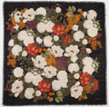 "Luxury Accessories:Accessories, Chanel White, Orange & Black Cashmere Floral Print Scarf.Very Good Condition. 36"" Width x 36"" Height. ..."