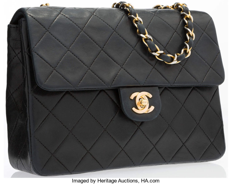 ... Luxury Accessories Accessories, Chanel Navy Quilted Lambskin Leather  Small Single Flap Bag withGold Hardware ... 9c11c64707
