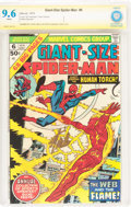 Bronze Age (1970-1979):Superhero, Giant-Size Spider-Man #6 Verified Signature Series (Marvel, 1975) CBCS NM+ 9.6 White pages....