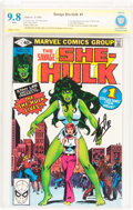Modern Age (1980-Present):Superhero, The Savage She-Hulk #1 Verified Signature Series (Marvel, 1980)CBCS NM/MT 9.8 White pages....