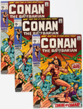 Bronze Age (1970-1979):Adventure, Conan the Barbarian #1-3 Multiple Copies Group of 24 (Marvel, 1970-71) Condition: Average FN+.... (Total: 24 Comic Books)