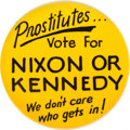 Political:Pinback Buttons (1896-present), John F. Kennedy: Classic Off-Color Novelty Pin....