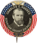 Political:Pinback Buttons (1896-present), Charles Evans Hughes: Eagle and Flags Picture Pin....