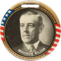 Political:Pinback Buttons (1896-present), Woodrow Wilson: Two-Sided Portrait Fob....