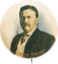 Political:Pinback Buttons (1896-present), Theodore Roosevelt: Large Natural Color Picture Pin....