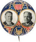 Political:Pinback Buttons (1896-present), Hoover & Curtis: Presidential Seal Jugate....