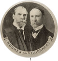 Political:Pinback Buttons (1896-present), Hughes & Fairbanks: Large Grey-tone Jugate....