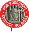 Political:Pinback Buttons (1896-present), Eugene V. Debs: Rare Variety Convict Pin....