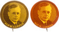 Political:Pinback Buttons (1896-present), Alf Landon: Pair of Scarce Picture Pins.... (Total: 2 Items)
