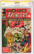 Silver Age (1956-1969):Superhero, The Avengers #1 UK Edition - Signature Series (Marvel, 1963) CGCVG/FN 5.0 Off-white to white pages....