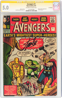 The Avengers #1 UK Edition - Signature Series (Marvel, 1963) CGC VG/FN 5.0 Off-white to white pages