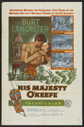 "Movie Posters:Adventure, His Majesty O'Keefe (Warner Brothers, 1954). One Sheet (27"" X 41"").Adventure. ..."