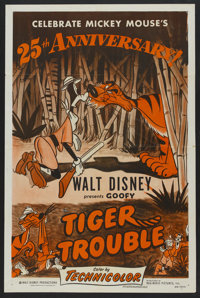 """Tiger Trouble (RKO, R-1953). One Sheet (27"""" X 41""""). Animated"""