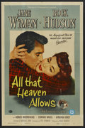 """Movie Posters:Drama, All That Heaven Allows (Universal, 1955). One Sheet (27"""" X 41"""").Drama...."""