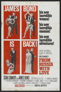 """Movie Posters:James Bond, From Russia with Love (United Artists, 1964). One Sheet (27"""" X 41""""). James Bond. ..."""